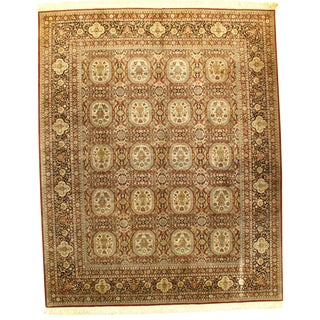 "Pasargad Sino Hereke Pure Silk Rug - 8'1"" X 10' For Sale"