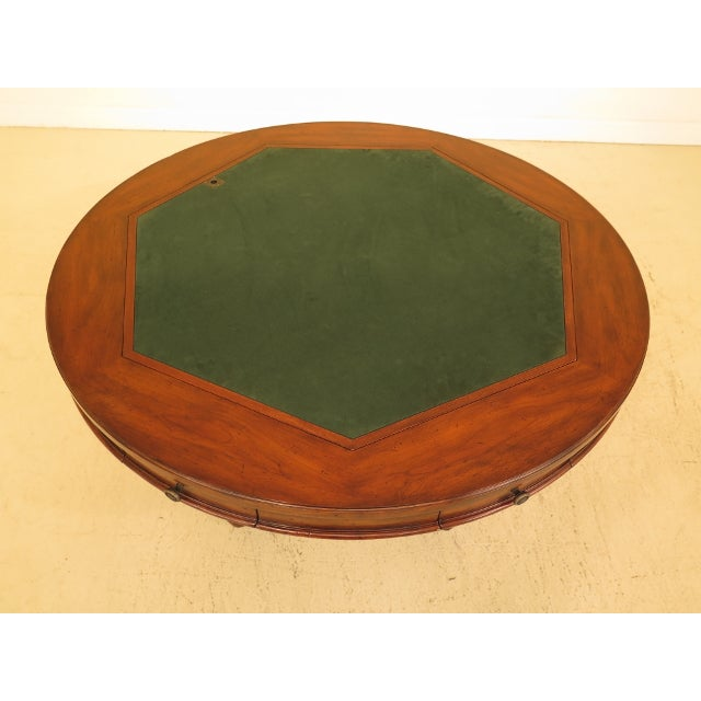 Felt Artistica Round Card Poker Games Table For Sale - Image 7 of 13