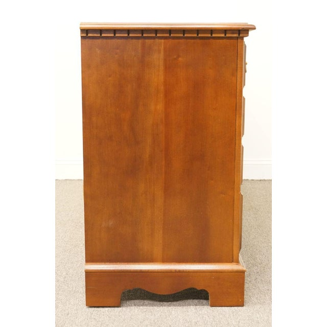 Late 20th Century Broyhill Cherry Triple Door Dresser For Sale - Image 12 of 13