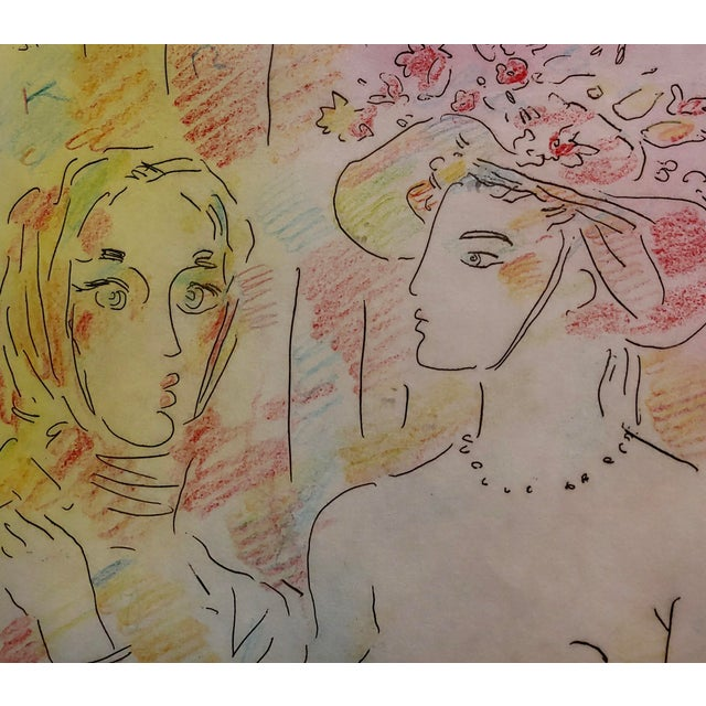 1970s Peter Max - Homage to Pablo Picasso -Original Color Etching For Sale - Image 5 of 9