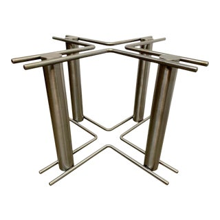 Modernist Stainless Steel Table Base For Sale