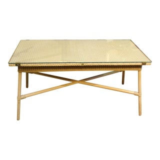 Mid-20th Century Rectangular Coffee Table by Lloyd Loom For Sale