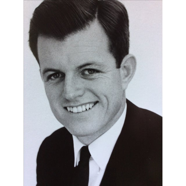 Mid-Century Modern Original Ted Kennedy Photograph by Jacques Lowe Stamped For Sale - Image 3 of 5