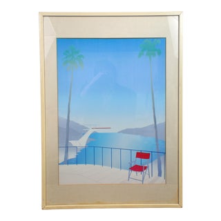 Art Deco Modernist Style California Lifestyle Reproduction Print For Sale