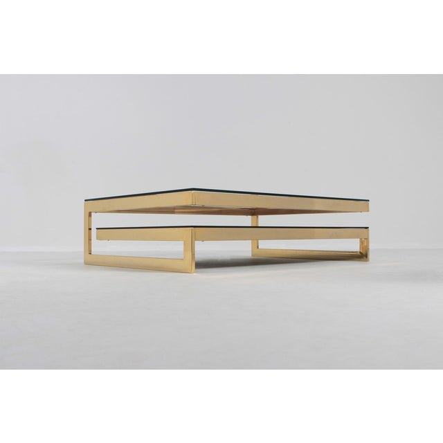 Belgo Chrome Golden G Coffee Table Extra Large For Sale - Image 10 of 12