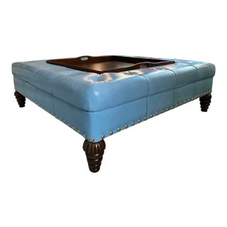 Bunny Williams Square Ottoman For Sale