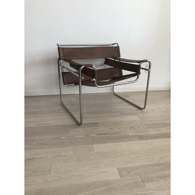 Vintage Wassily Brown Leather Chair - Image 2 of 10