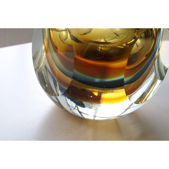 Faceted Murano Sommerso Glass Vases - Set of 3 For Sale In Los Angeles - Image 6 of 8