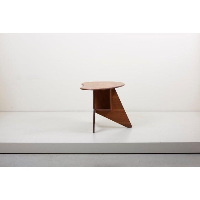 Pair of Wooden Mid-Century Modern Studio Side Tables, Us For Sale - Image 9 of 12
