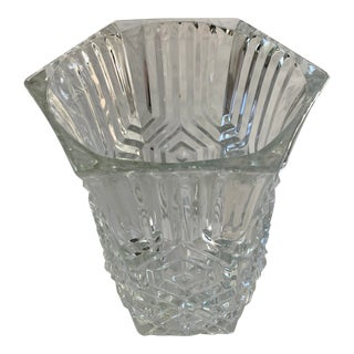 Vintage French Art Deco Style Glass Vase For Sale