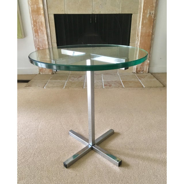Mid Century Chrome and Glass Coffee / Side Table For Sale - Image 5 of 5
