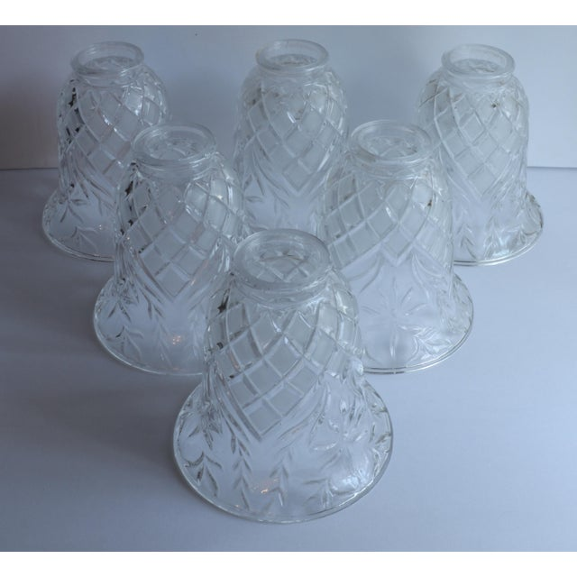 Vintage Cut Glass Light Shade Covers - Set of 6 For Sale - Image 10 of 13