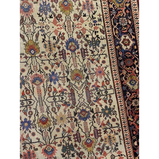 "1900 - 1909 Classic Antique Persian Sarouk Rug, 4'4"" X 6'5"" For Sale - Image 5 of 11"