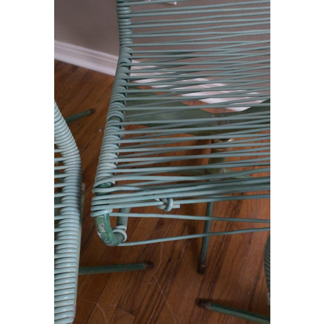1950s Vintage Ames Aire Cabana Star Line Green Patio Chairs- Set of 4 For Sale In Dallas - Image 6 of 11
