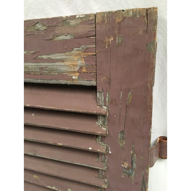 1920s Antique French Painted Shutters - A Pair For Sale - Image 5 of 10