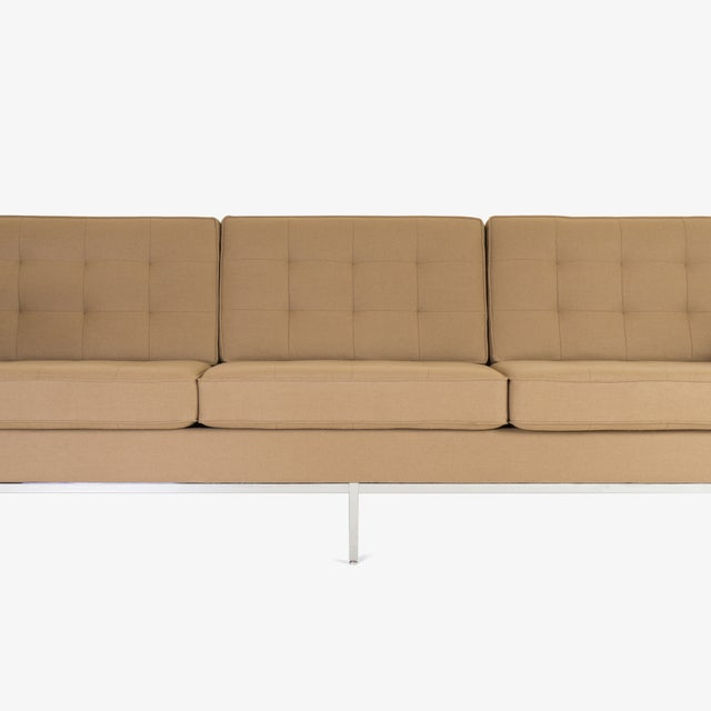 Knoll Florence Knoll Sofa in Camel Wool Flannel For Sale - Image 4 of 8