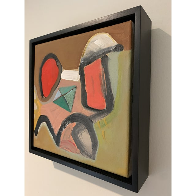 Contemporary Black Floater Framed Contemporary Abstract Original Painting For Sale - Image 3 of 10