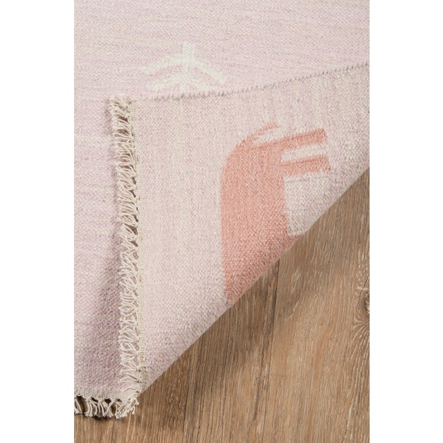 """2010s Erin Gates by Momeni Thompson Porter Pink Hand Woven Wool Area Rug - 3'6"""" X 5'6"""" For Sale - Image 5 of 7"""