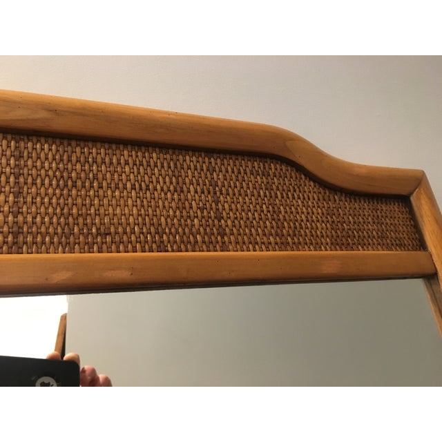 French Indochine Style Mid Century Pier / Console Mirror (4 Ft) For Sale - Image 9 of 12