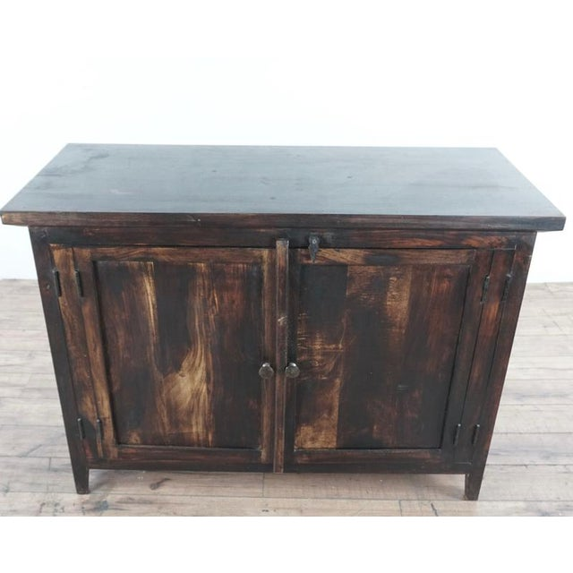 Shabby Chic Wooden Storage Cabinet For Sale - Image 10 of 10