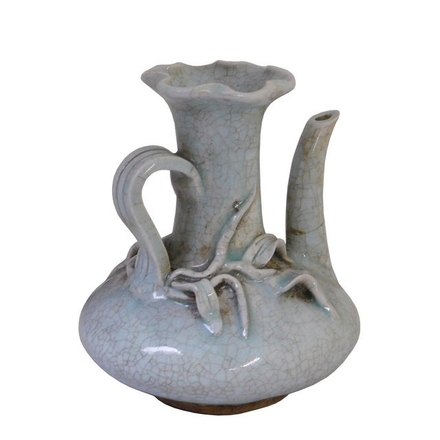 Chinese Chinese Celadon Pottery Vase For Sale - Image 3 of 6