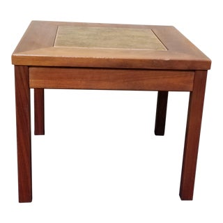 1960s Danish Modern Brown Saltman Walnut Side Table For Sale