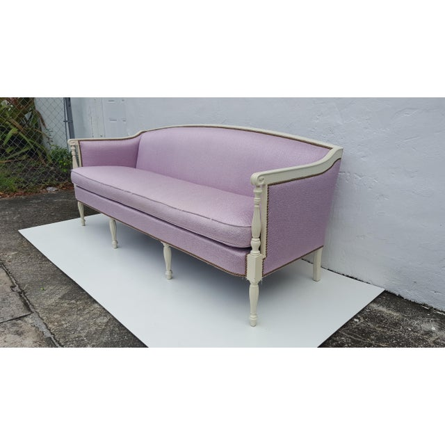 Vintage Hickory Chair Company Regency Style Sofa - Image 5 of 11