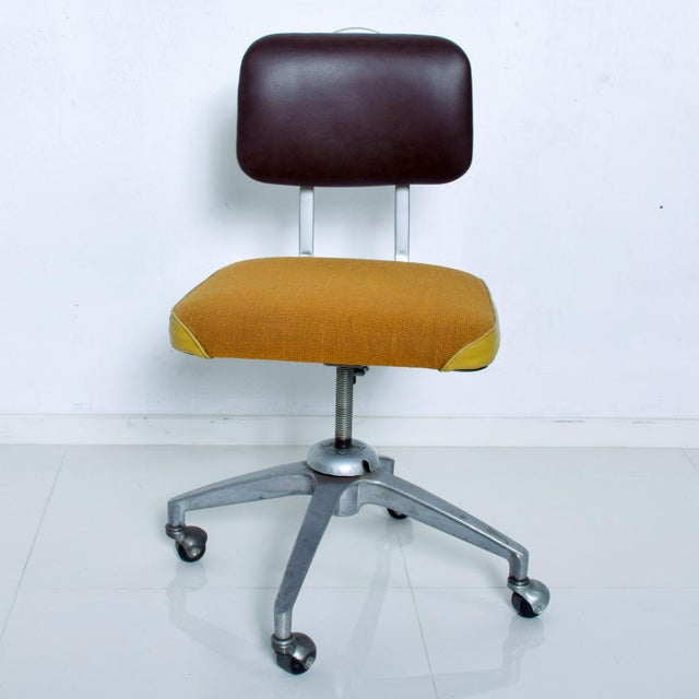 Vintage Rolling Industrial Cosco Tanker Office Desk Chair For Sale - Image 10 of 10