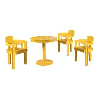 Syroco Mid-Century Sunshine Dining Set