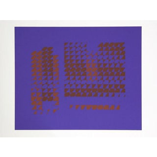 Josef Albers - Portfolio 2, Folder 15, Image 2 Framed Silkscreen For Sale