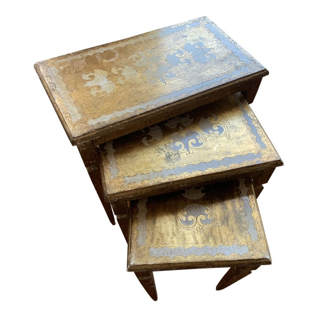 1940s French Nesting Tables - Set of 3 For Sale