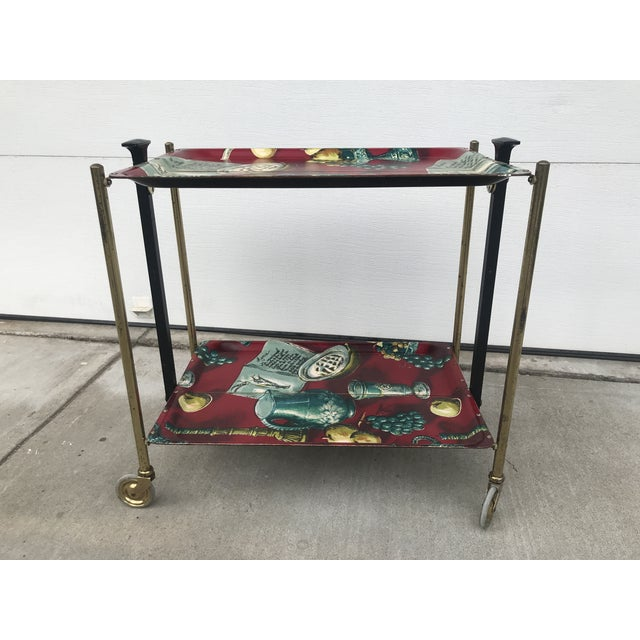 1960s 1960s German Still Life Print Bar Cart For Sale - Image 5 of 13
