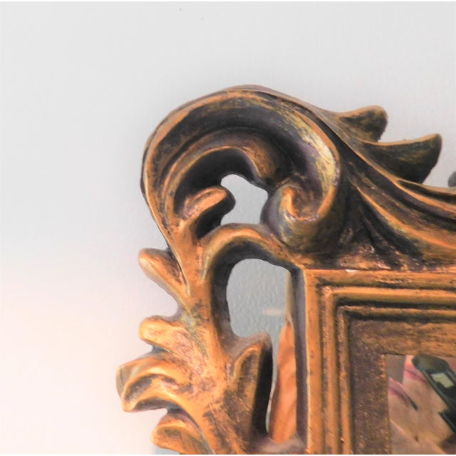 Vintage Baroque Style Gold Leaf Beveled Wall Mirror For Sale In New York - Image 6 of 11