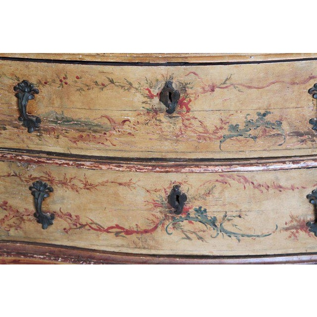 Mid 18th Century Italian Painted Two Drawer Commode For Sale - Image 4 of 13