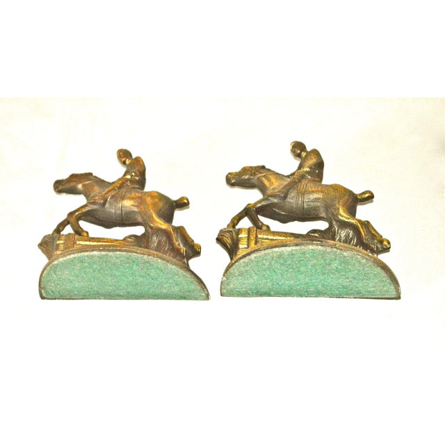 Cast Iron Hubley Horse and Rider Bookends - a Pair For Sale - Image 7 of 8