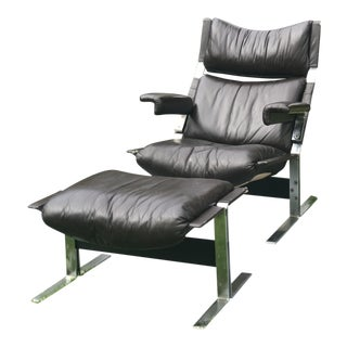 Lounge Chair and Ottoman by Richard Hersberger for Pace Collection Inc. For Sale