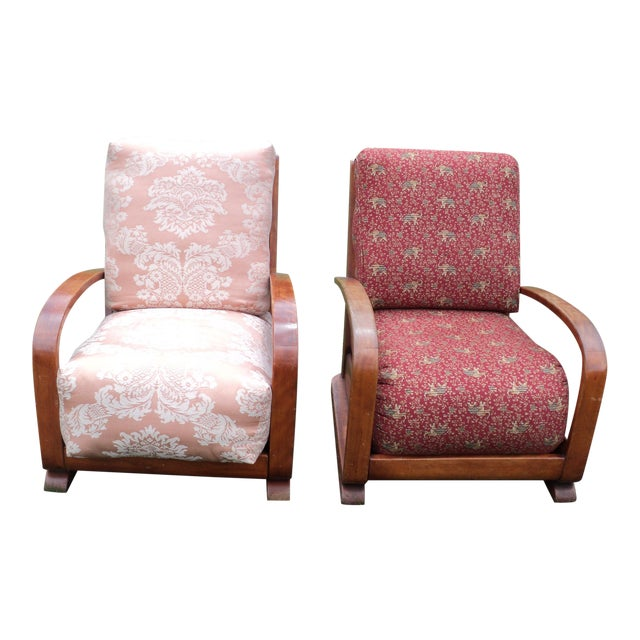 Mid-Century Club Chairs - A Pair - Image 1 of 11