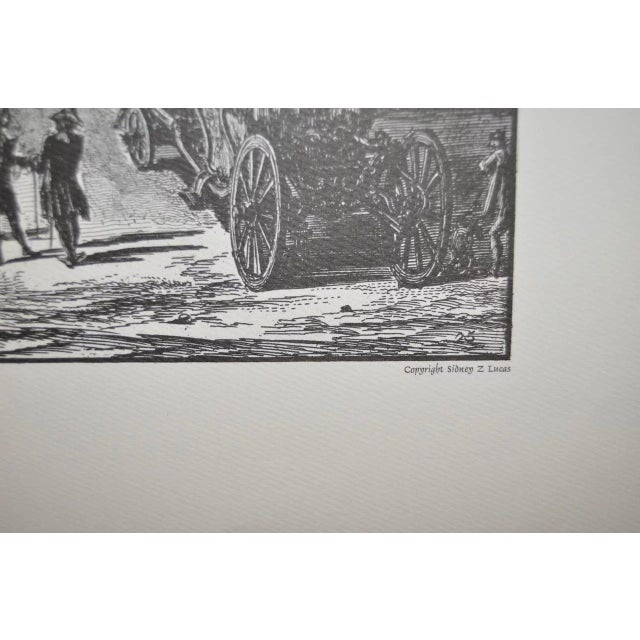 Paper Piranesi Print by Sidney Z Lucas C.1950 For Sale - Image 7 of 8
