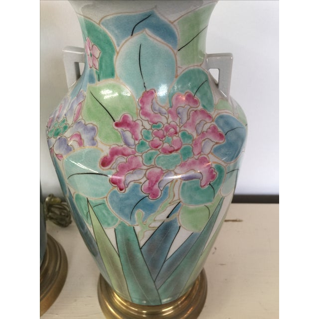 Chinoserie Hand Painted Fredrick Cooper Lamps - 2 - Image 8 of 9