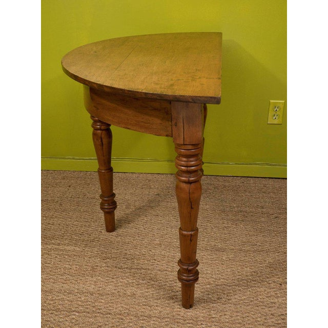 Oak Demilune Table - Image 5 of 6