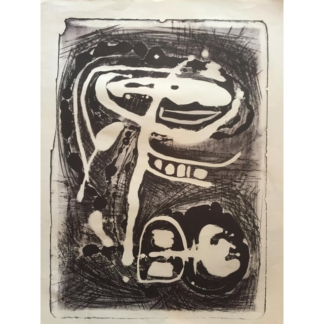 Lithograph Mid Century Modern Abstract Stone Litho Jerry Opper For Sale - Image 7 of 7