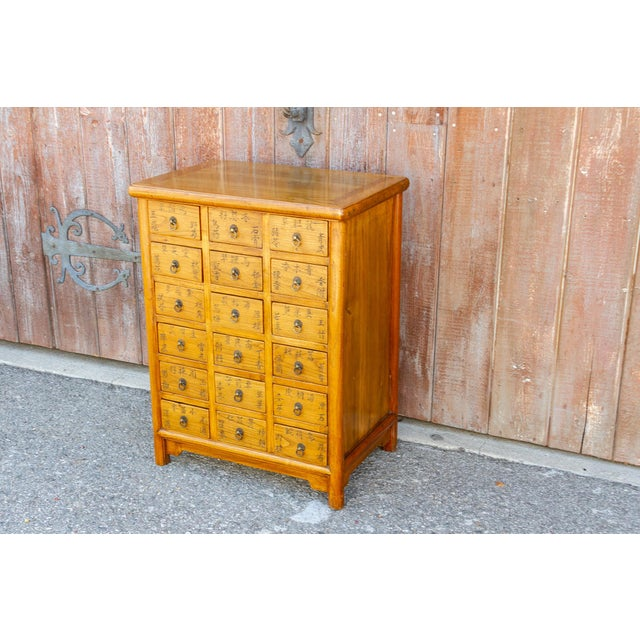 Asian Chinese Elm Apothecary Dresser For Sale - Image 3 of 9