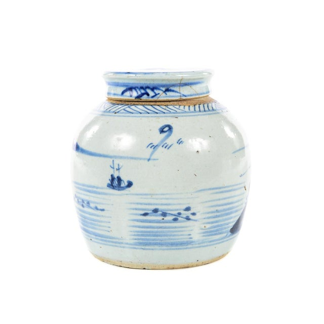 Antique Chinese Blue & White Jar For Sale In Los Angeles - Image 6 of 9