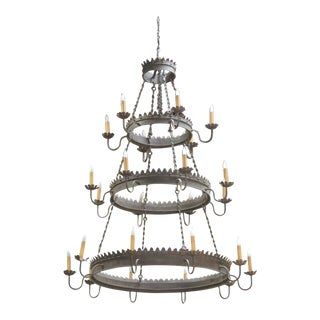 Massive Spanish or Mediterranean Chandelier Hotel Size For Sale