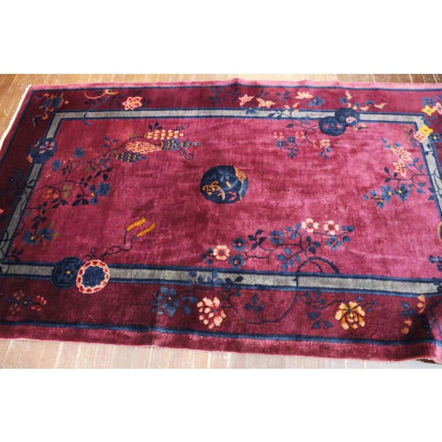 Art Deco Antique Art Deco Chinese Rug For Sale - Image 3 of 11