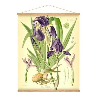 Purple Iris Wall Hanging For Sale