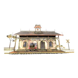 """Curtis Jere """"Train Station"""" Azusa Metal Wall Hanging Sculpture For Sale"""
