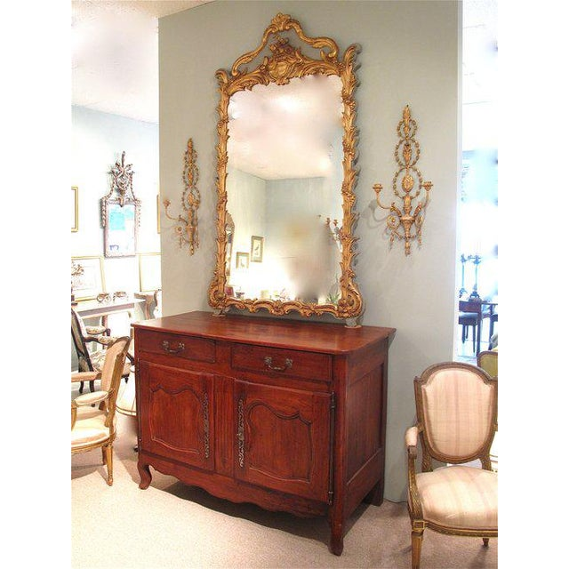 French Louis XV Style Painted and Gilt Mirror - Image 3 of 11