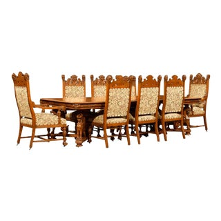 AMERICAN OAK DINING SUITE BY R.J. HORNER For Sale