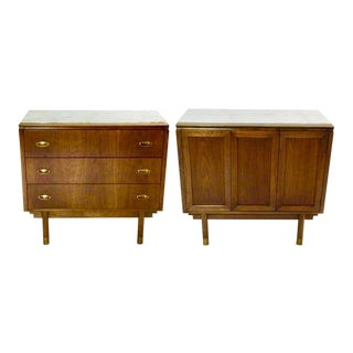 Bert England for Johnson Furniture Chests - A Pair For Sale